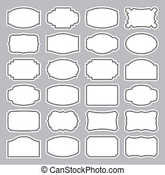 set of 24 blank retro labels, scalable and editable vector illustration;