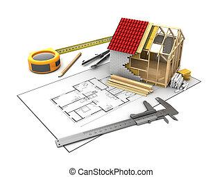 frame house model