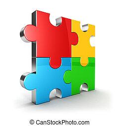 3d puzzle icon