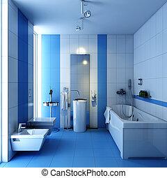 bathroom wc with wash-tub