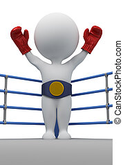 3d small people - boxer the champion
