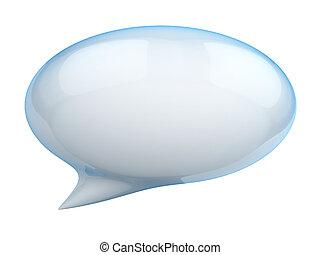3d illustration of speech bubble