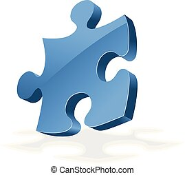 3D turned jigsaw puzzle - clossy icon