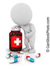 3d white people needs medicines