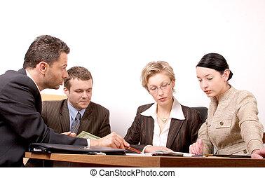 4 people meeting