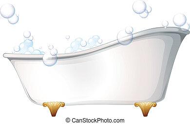 Illustration of a bathtub on a white background