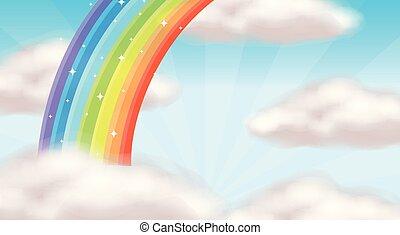A Beautiful Rainbow Sky