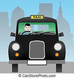 A Black London Taxi Cab