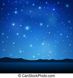 A Blue Night Sky with lots of Stars