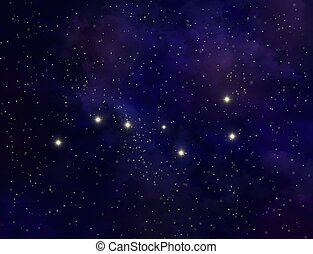 Abstract asterism of Big Dipper illustration