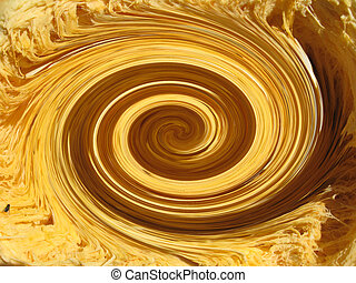 abstract background with golden whirlpool