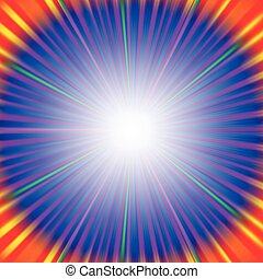 Abstract Colorful Rays Background. Blue Wave Background