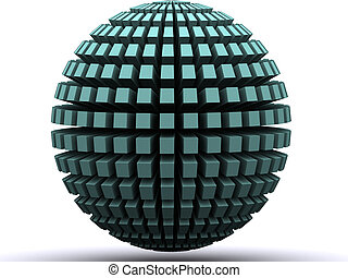 a 3d renders globe