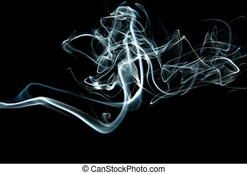 abstract grey smoke isolated