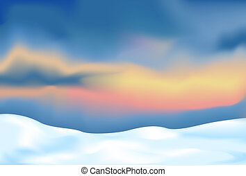 abstract landscape with snow