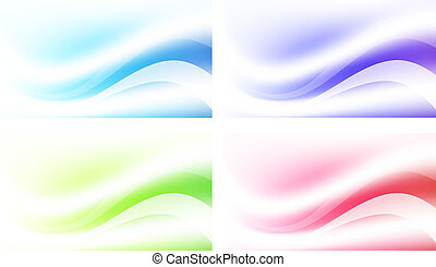 Abstract Multicolored Background Set