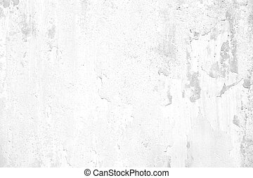 old grunge cracked white concrete wall