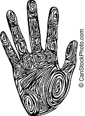 Abstract pattern hand print