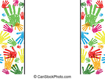 abstract vector hand prints