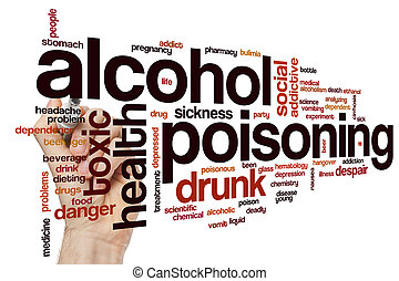 Alcohol poisoning word cloud