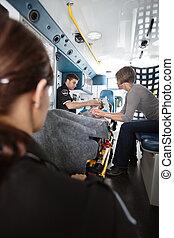 Ambulance Care Senior Woman