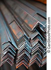Angle iron bunch on shelf in wavehouse