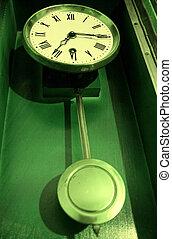 Antique old retro pendulum clock