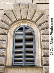 Arched window.