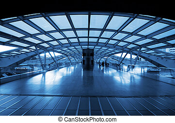 The design architecture of modern train (subway) station