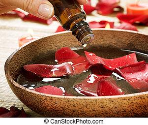 Aromatherapy. Essence oil. Spa treatment