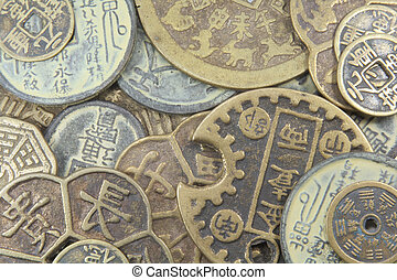 Asian Old Business Currency Coins