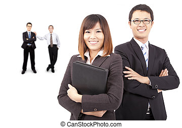 Asian success business team