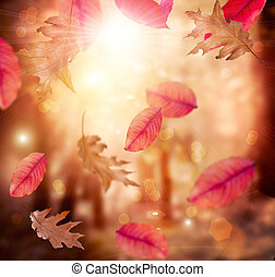 Autumn. Fall. Autumnal Background. Leaves