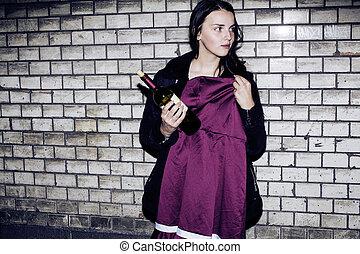 bad neighborhood influence concept: lifestyle teenage with alcoh