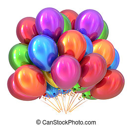 Balloons birthday party decoration multicolored. Balloon bunch