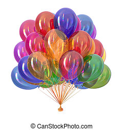 balloons party decoration multicolor