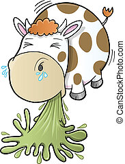 Barfing Vomiting Cow