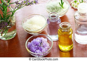 Bath salt with aromatherapy oil