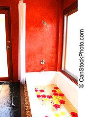 Bath tub flower