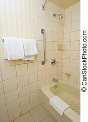 Bathroom area with towels