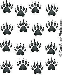 Bear or cub, paw prints all heading in an upward direction wallpaper