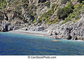Beautiful beach in Kefalonia island, Greece
