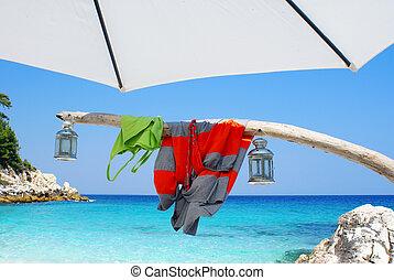 Beautiful beach in Northern Greece
