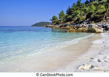 Beautiful beach in Zante island, Greece