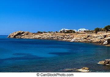Beautiful beach on Mykonos island, Greece