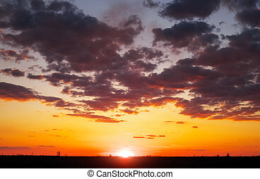 Beautiful colorful sky during sunset or sunrise.
