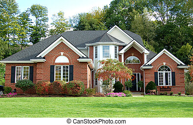 Beautiful house in a wooded setting