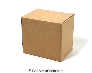 Black cardboard box isolated on white background