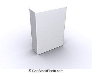 High-res blank box. fill in your own graphic to make this an e-box, e-book, software box or a box at your choice.