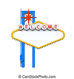 Blank Las Vegas Welcome Sign